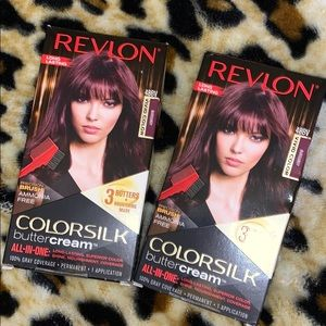 2 pack Revlon ColorSilk Hair Dye in Burgundy